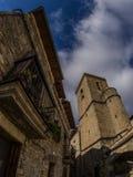 Kerk in de stad van Spanje stock foto