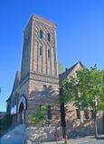kerk de weg van paradijs Royalty-vrije Stock Foto