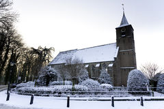 Kerk in de Winter Royalty-vrije Stock Foto