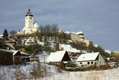 Kerk in de winter Royalty-vrije Stock Fotografie