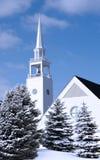 Kerk in de Winter Stock Afbeelding