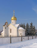 Kerk in de winter Stock Fotografie