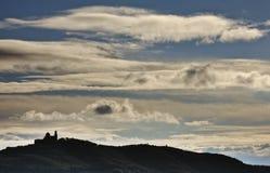 Kerk in de wolken Royalty-vrije Stock Afbeelding