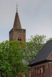 Kerk in Den Burg, Texel-centrum Stock Afbeeldingen