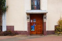 kerk Deur Stock Afbeelding