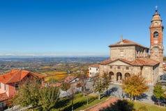Kerk in Diano DAlba, Italië Stock Foto