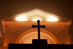 Kerk in district Wilanow stock foto