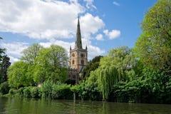 Kerk door de rivier Royalty-vrije Stock Fotografie