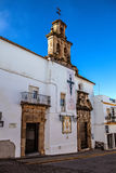 Kerk in dorp andalusia Stock Fotografie