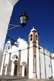 Kerk in dorp Monsaraz Stock Afbeelding