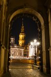 Kerk in Dresden Stock Fotografie