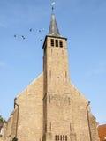 Kerk in een dorp Stock Afbeelding