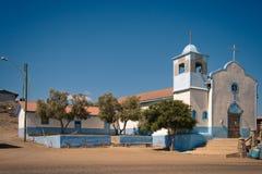 Kerk in een oude stad in Punta DE Choros Stock Foto's