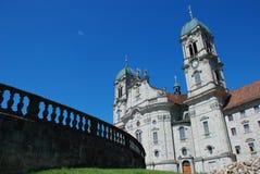 Kerk in Einsiedeln, Zwitserland Stock Foto