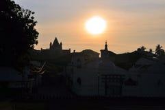 Kerk en Boeddhistische Tempel, Galle, Sri Lanka Royalty-vrije Stock Fotografie