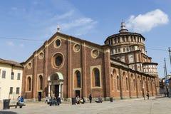Kerk en Dominicaans klooster Santa Maria delle grazie Heilige Mary stock afbeeldingen