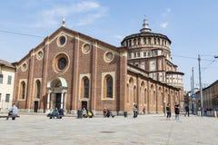 Kerk en Dominicaans klooster Santa Maria delle grazie Heilige Mary stock foto's