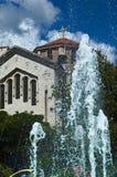 Kerk en fontein royalty-vrije stock foto