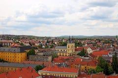 Kerk en gebouwen Eger Hongarije Stock Foto