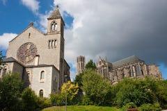 Kerk en kathedraal in Limoges Royalty-vrije Stock Foto's