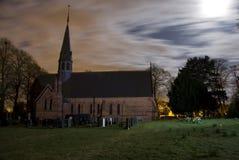 Kerk en kerkhof Stock Foto