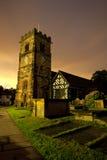 Kerk en kerkhof Royalty-vrije Stock Fotografie