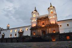 Kerk en Klooster/Monastry van Heilige Francis, Quito, Ecuador Royalty-vrije Stock Foto