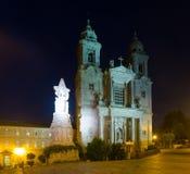 Kerk en klooster van San Francisco in nacht Stock Fotografie