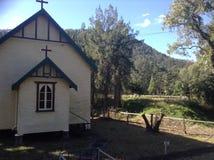Kerk en landschap royalty-vrije stock fotografie