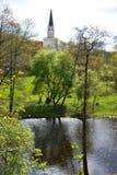 Kerk en park Royalty-vrije Stock Afbeelding