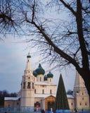 Kerk en sneeuw royalty-vrije stock foto
