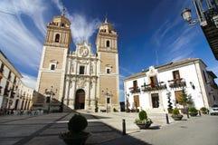 Kerk en stadhuis van velez-Rubio, zuiden van Spanje Stock Foto