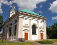 Kerk evangelisch-Augsburg van de Apostelen Peter en Paul in Wisla Polen, Silesië Royalty-vrije Stock Fotografie