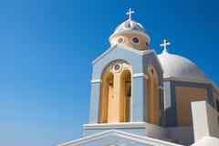 Kerk in Fira, Santorini Stock Afbeelding