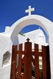 Kerk in Folegandros eiland, Griekenland Stock Afbeelding