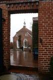 Kerk in frame stock afbeelding