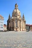 Kerk Frauenkirche, Dresden Stock Afbeeldingen