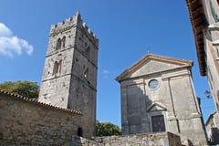 Kerk in Gezoem, Istria, Kroatië royalty-vrije stock foto