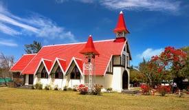 Kerk GLB Malheureux, Mauritius Island, stock foto