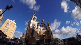 Kerk, god, orthodox Kiev, nieuw, de Oekraïne, stock footage
