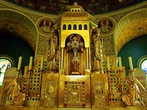 kerk, godsdienst, kathedraal, architectuur, binnenland, altaar, tempel, de bouw, katholieke kunst, godsdienstig, oud, god, oud It stock foto's