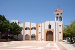 Kerk in Gran Tarajal, Fuerteventura, Spanje royalty-vrije stock fotografie