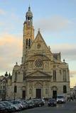 Kerk heilige-Etienne-du-Mont dichtbij het Pantheon in Parijs Royalty-vrije Stock Afbeeldingen