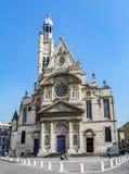 Kerk heilige-Etienne-du-Mont in Parijs, Frankrijk royalty-vrije stock afbeeldingen