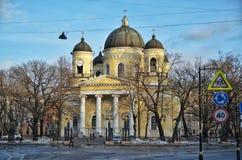 Kerk in Heilige Petersburg Stock Foto's