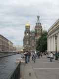 Kerk Heilige Petersburg Rusland Stock Foto's