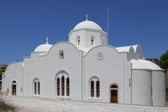 Kerk in het dorp Kampos op Patmos-eiland Royalty-vrije Stock Afbeeldingen