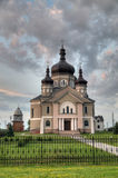Kerk in het gebied van dorpsZapytov Lviv Royalty-vrije Stock Fotografie