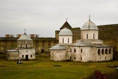 Kerk in het gebied van vestingsivangorod Pskov Royalty-vrije Stock Fotografie