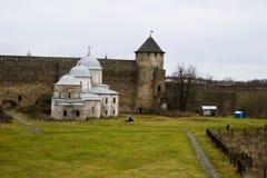 Kerk in het gebied van vestingsivangorod Pskov Stock Fotografie